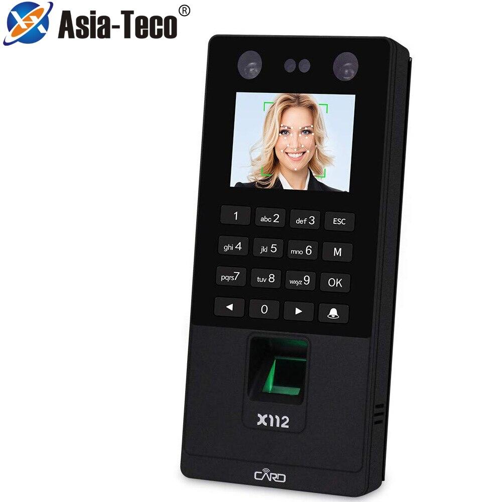 2,8 zoll TCP/IP USB Biometrische Gesichts Tür Access Control System Fingerprint Gesicht Zeit Teilnahme Maschine RFID Tastatur Reader