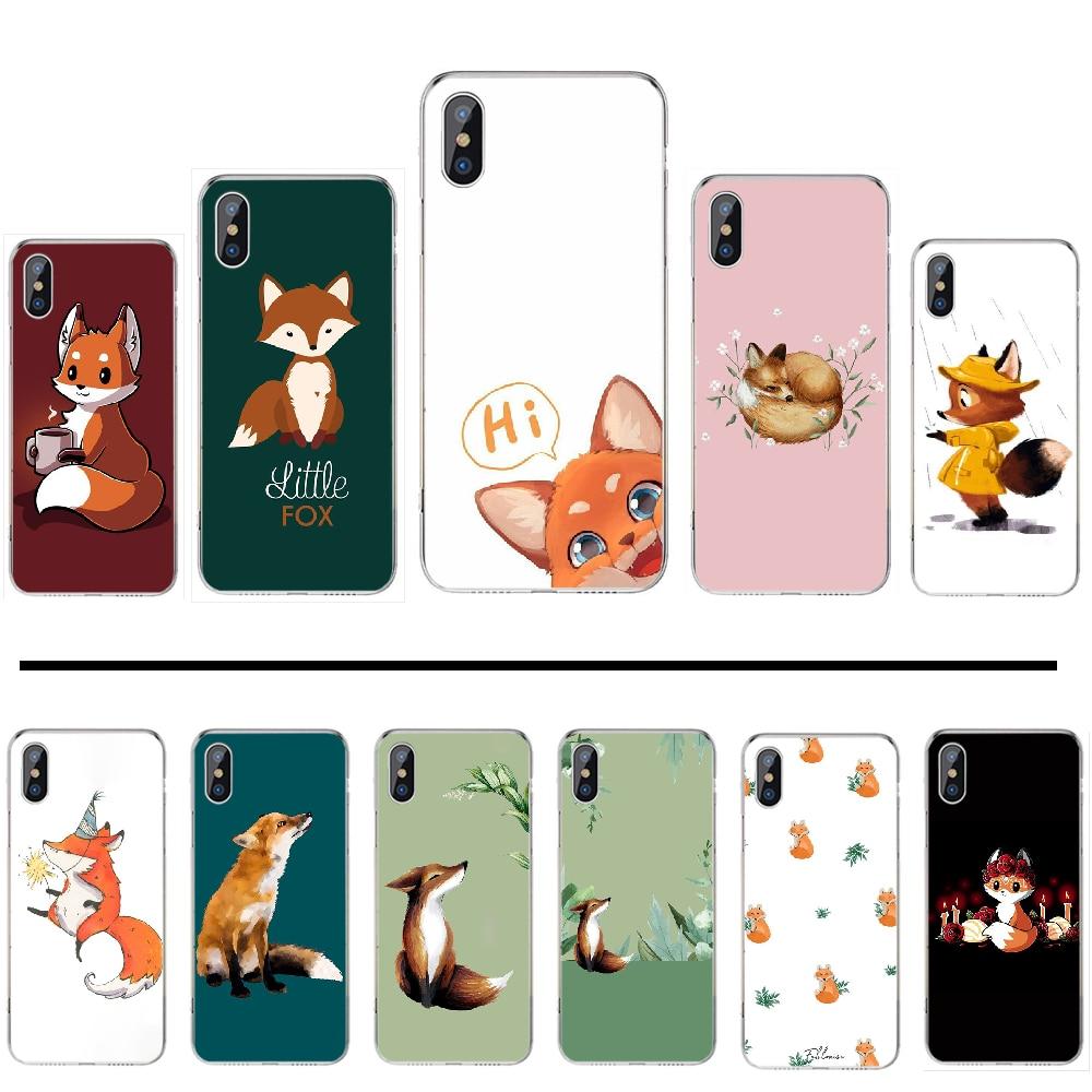 Anime foxes engraçados adorável bonito capa preta caso de telefone escudo macio para o iphone 4 4s 5 5s se 6 6s 7 8 plus x xs xr 11 pro max