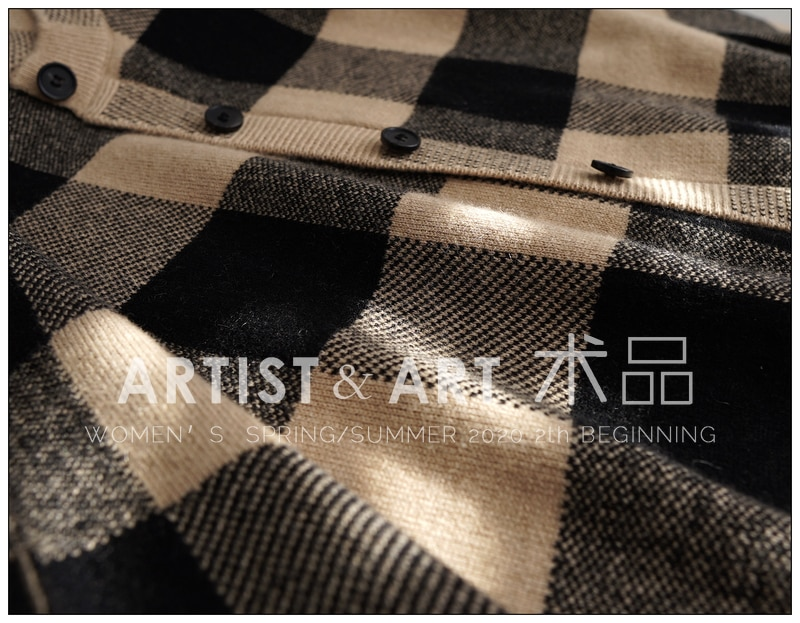Classic Plaid Cashmere Sweater Women Elegant Office Lady Knitted Wool Cardigan Mujer 2020 Brand Designers Autumn Winter Clothes enlarge