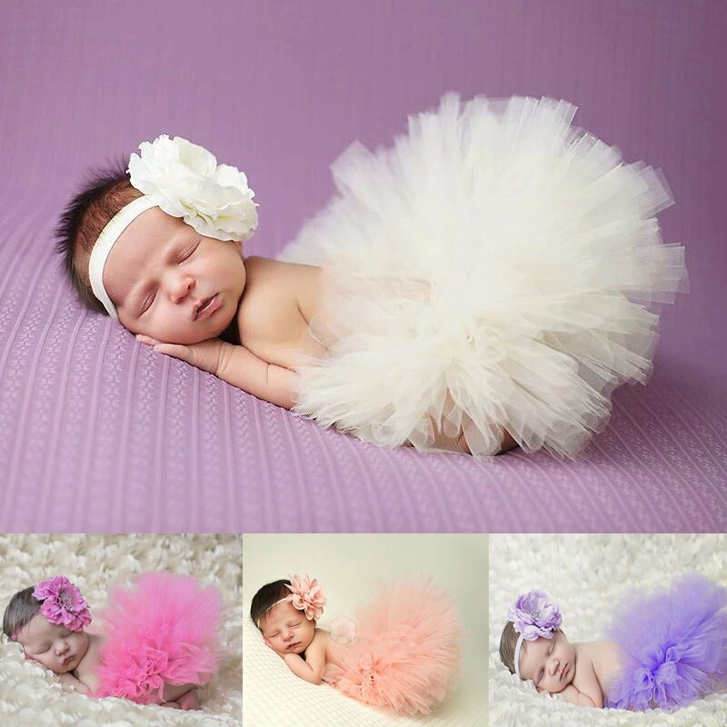 Newborn photography props baby girl clothes Tutu Princess Skirt accessories infant clothing outfit babies set for girls 5pcs set newborn infant baby suits boys girls kids clothes sets tops pants bibs hats girl clothing set for baby girls outfit
