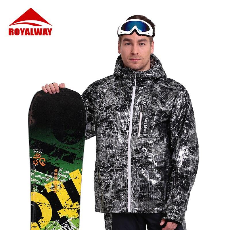 ROYALWAY уличные спортивные мужские куртки для сноуборда зимние теплые ветрозащитные водонепроницаемые лыжные классические лыжные костюмы дл...
