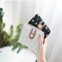 Printing Flower Women Wallet Small Zipper Women Purse Brand Short Designer Female Coin Purse Lady Card Holder Wallet