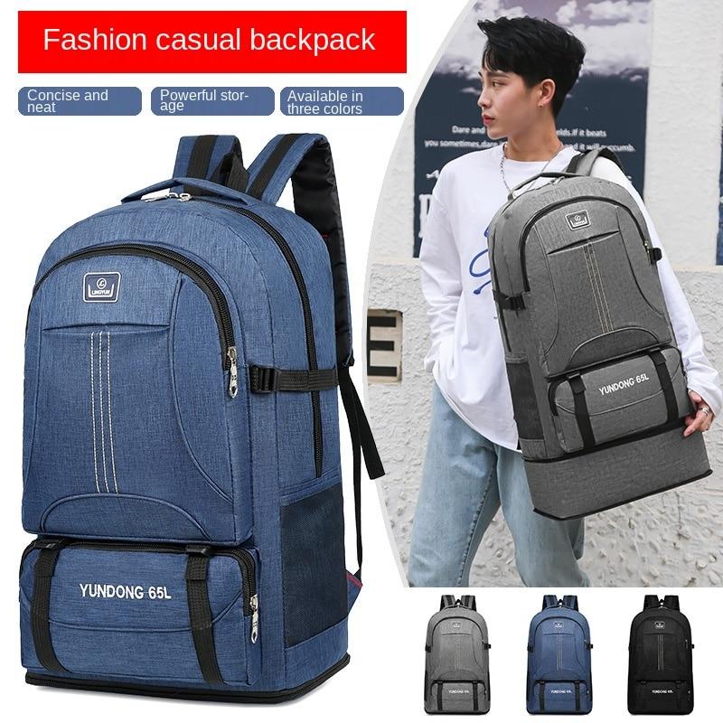 Большая водонепроницаемая женская сумка для школы, подростков, рюкзак на молнии для кемпинга и ноутбука, мужской тактический рюкзак для пут...