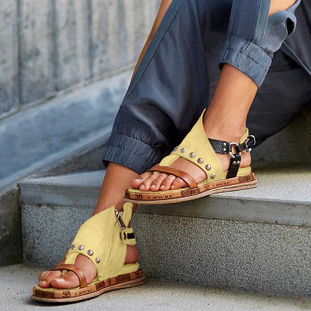 KARINLUNA Big Size 43 Dropship 2020 Women Shoes Woman Leisure Flat With Gladiator Brand Design Print Summer Sandals Female