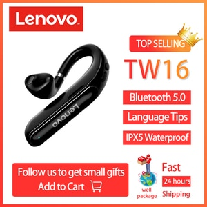 Original Lenovo TW16 Bluetooth Earphones Handsfree Wireless Headphone IPX5 Waterproof Headset with mic for Driving Meeting