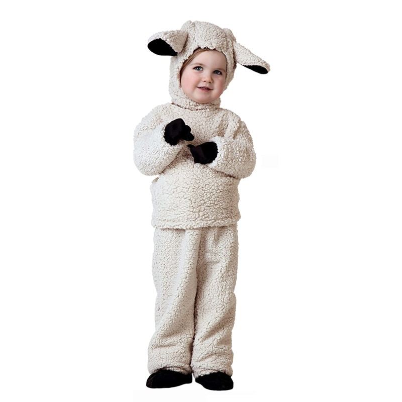 Kid Cartoon Animals Little Sheep Costumes Boy Girl Party Role Play Dress Up Suit Halloween Cosplay Costume Child Jumpsuit Outfit