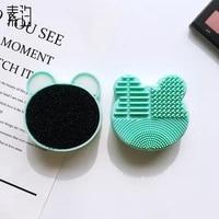bear washing brush pad cleaning mat makeup brush cleaner cosmetic universal makeup tool beauty egg cosmetic brush cleaning tool