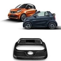 for new smart 453 fortwo forfour car styling accessories carbon fiber car roof console box decorative cover modification sticker