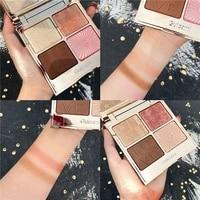 new fashion eyeshadow palette 4 colors matte eyeshadow palette glitter eye shadow makeup nude beauty make up set cosmetics