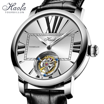 Haofa Manual Tourbillon Men Mechanical Wristwatches Sapphire Skeleton Flying Seagull Movment ST8230 Tourbillon Luxury Watch Men