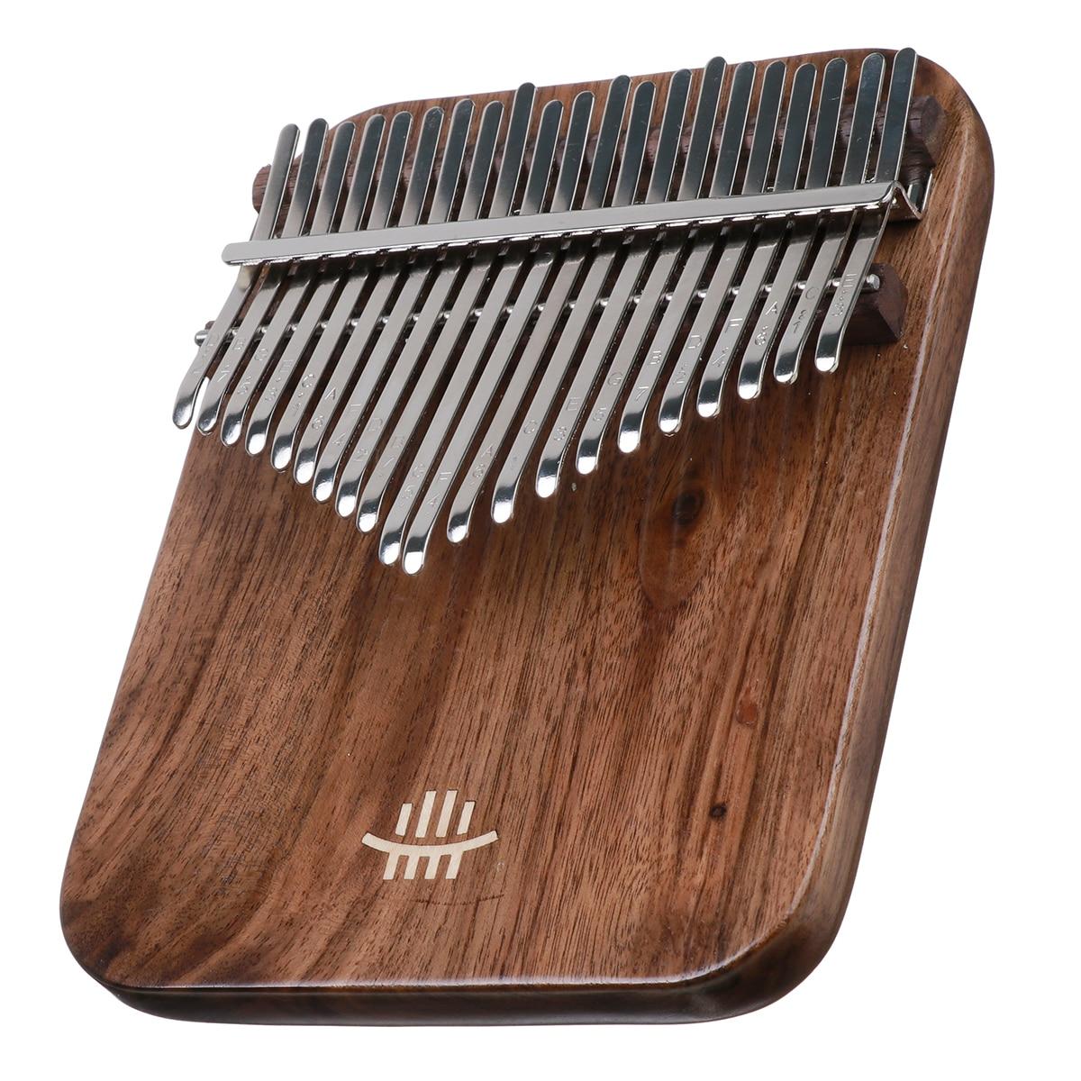 21 Key Kalimba Keyboard Piano Finger Thumb Mbira Mahogany Wood With Accessories enlarge