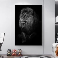 african wild animals lion head canvas art posters and prints art canvas paintings on the wall art black pictures home wall decor