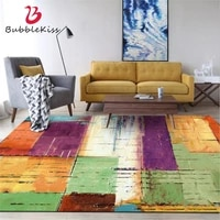 bubble kiss fashion vintage colorful mosaic style carpets for living room home decor customized rug anti slip sofa floor mats