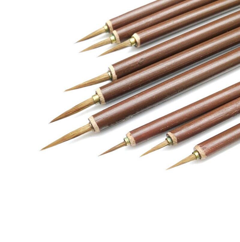 Stylo de calligraphie, porte-plume en bambou, ligne à crochet, 1 pièce, pour dessin dartiste, fournitures de peinture aquarelle