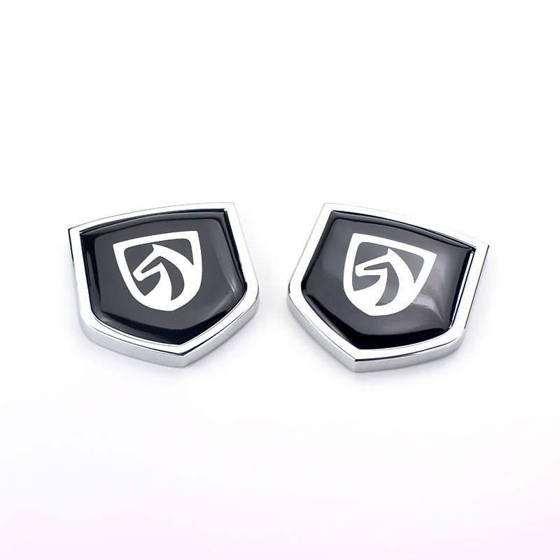 1 Pair Metal Car Sticker Emblem Badge for Baojun S1 S3 S6 RS-5 510 210 530 610 360 E200 Car Side Decal Auto Styling Decoration