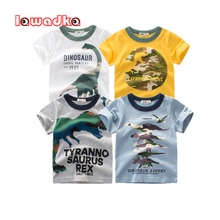 Lawadka – t-shirt dété en coton pour enfant, haut à manches courtes, tenue décontractée pour bébé de 2 à 7 ans