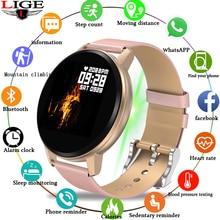 LIGE New Smart Watch Women Waterproof Fitness Tracker Heart rate blood Pressure Monitor Pedometer Sport Bracelet For Android ios