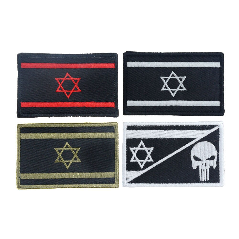 1 pçs bandeira de israel bordado remendo táticas combate emblema militar traje mochila bandeira braçadeira emblema remendo para mochila