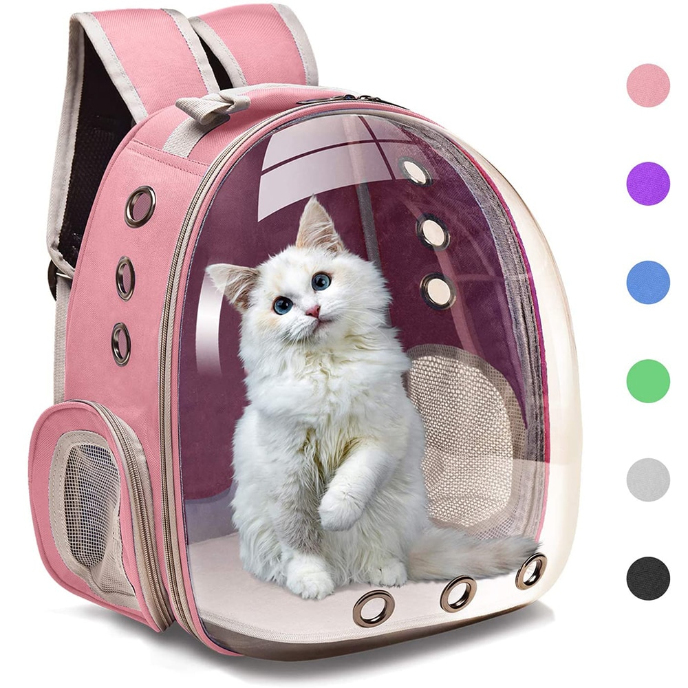 AliExpress - Cat Carrier Bags Breathable Pet Carriers Small Dog Cat Backpack Travel Space Capsule Cage Pet Transport Bag Carrying For Cats