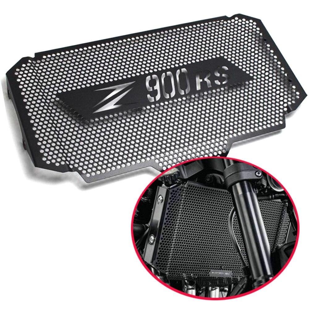 Z900rs motocicleta preta grade de radiador guarda capa protectorn para kawasaki z900 rs z 900rs 2017 2018 2019 aço inoxidável