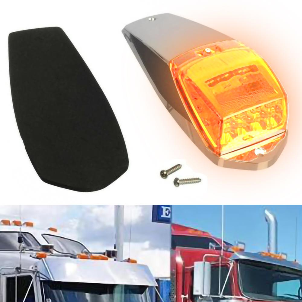 New High Quality 17LED Car Roof Warning Lights 12V Truck Trailer Yellow Clearance Lamp Side Marker Lights Tools