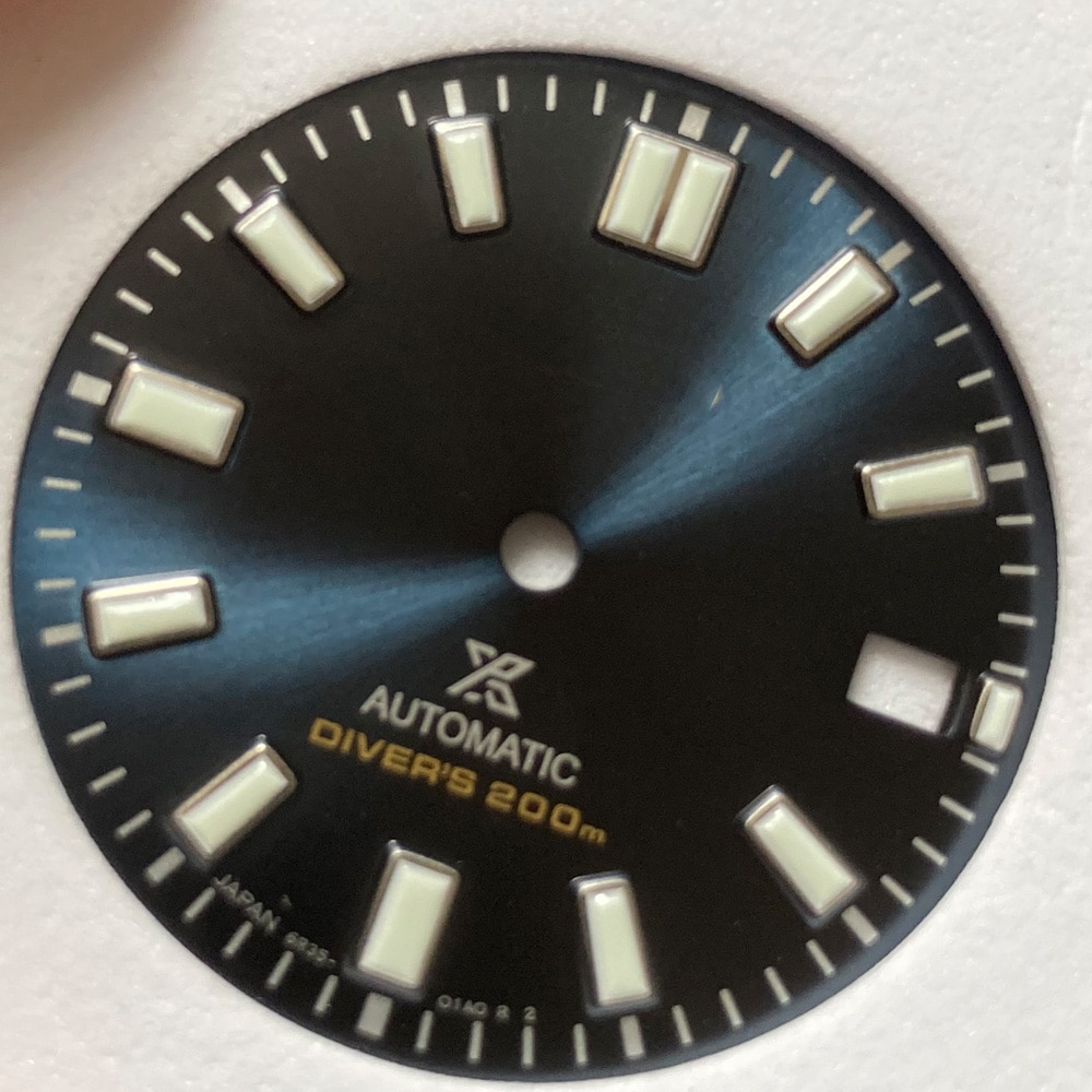 Watch Parts 28.5mm Blue/White Luminous Watch Dial Watch Mod Parts Suitable For NH35/4R35 Automatic Movement enlarge