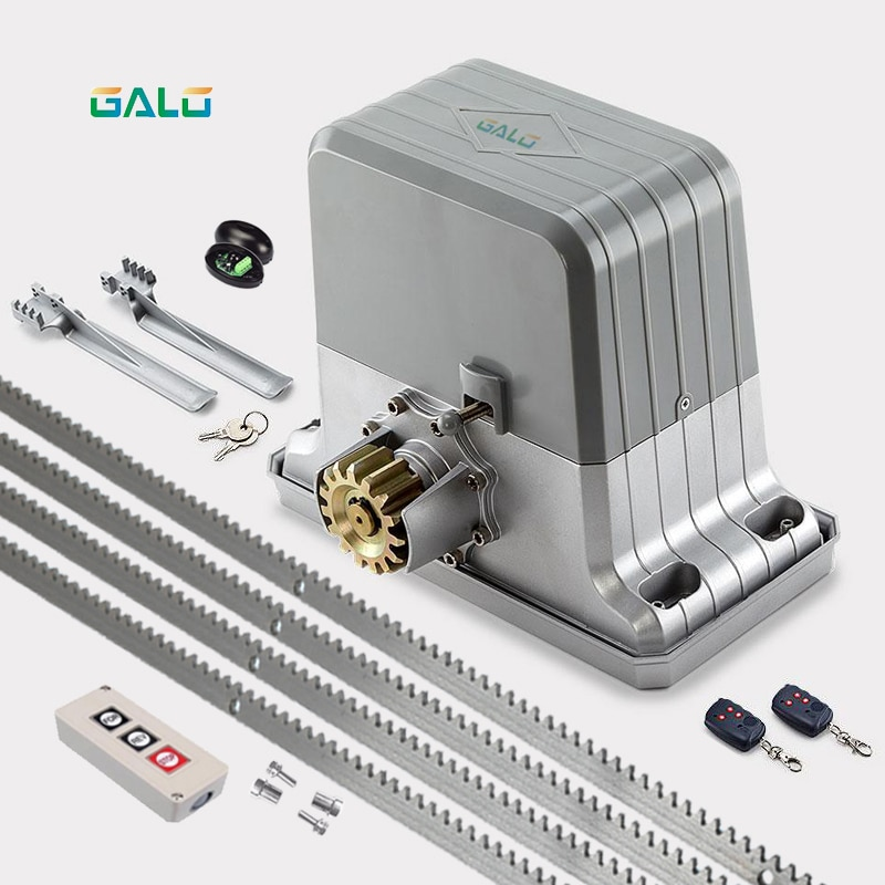 Heavy duty automatic electric sliding gate door motor engine opener with 4m racks (remotr control QTY/sensor/button optional) 800kg electric sliding door motor automatic door opener moving wheel door with 4m steel tooth rack the standard configuration