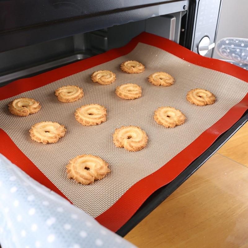 42 * 29,5 cm Baking Sheet Glass Fiber Mat Non-stick Silicone Pastry Mat Pad Rolling Dough Great size Cake Cake Macaron