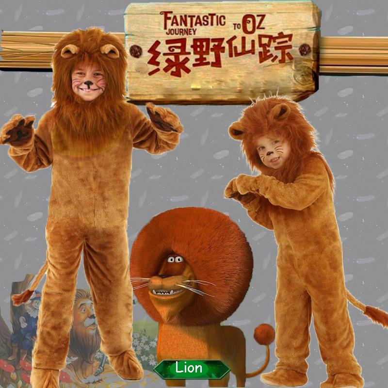 Детский роскошный костюм короля льва, карнавальные костюмы для детей с животными на Хэллоуин, Маскарадные Костюмы для ролевых игр