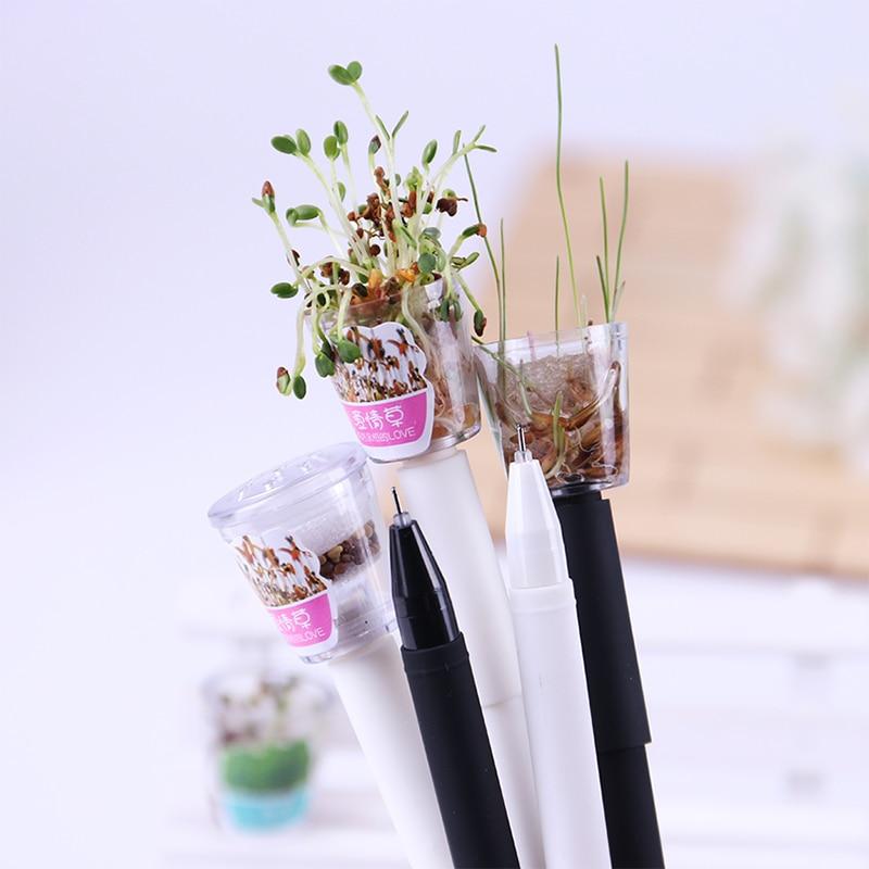 Симпатичная гелевая ручка для выращивания сада, кавайная Корейская канцелярия, креативный подарок, школьные принадлежности, гелевая ручка ...