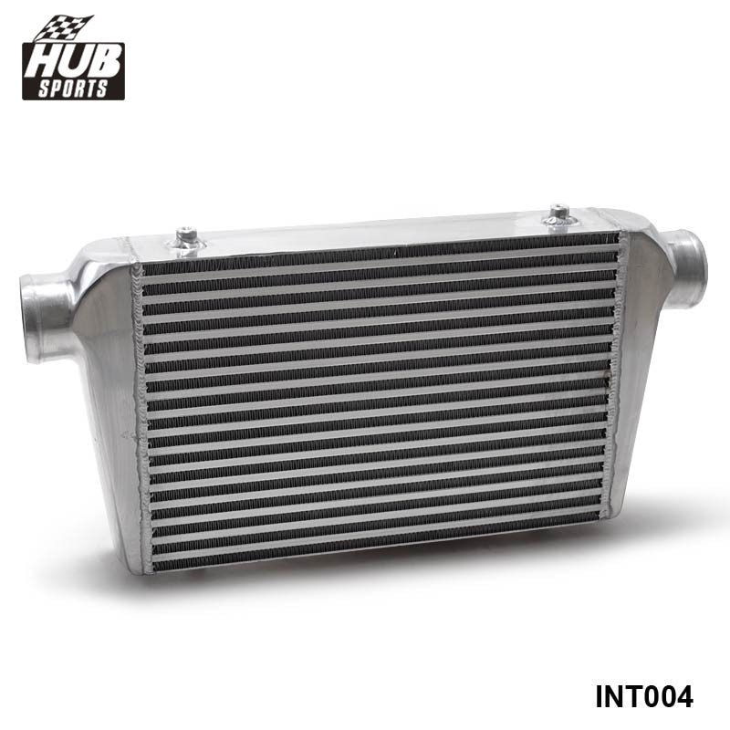 Intercooler de montaje frontal de aluminio, barra y placa, 450x300x76mm 3 (76mm), Turbo HU-INT004 enfriador I/O