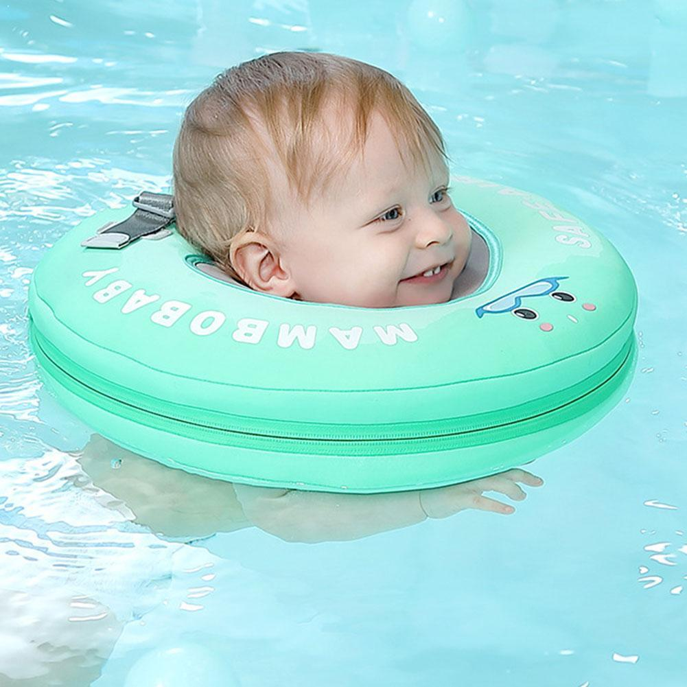 2017 new high quality safety baby need not inflatable floating ring round the neck round floating ring toy baby swimming pool Safety Non-inflatable Circle Baby Swim Floating Neck Ring Swimming Buoy Accessories Baby Swimming Pool Toys Swim Trainer