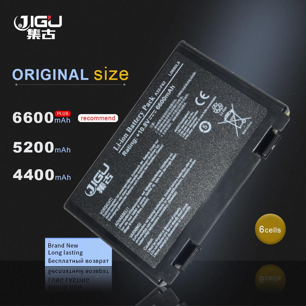 JIGU, batería para ordenador portátil, A32-F82 A32-F52 L0690L6 L0A2016 para Asus K40...