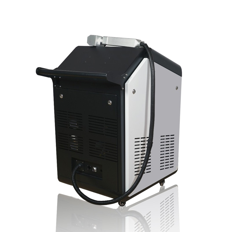 50W 100W Fiber laser cleaning machine for welding pretreating and paint removal