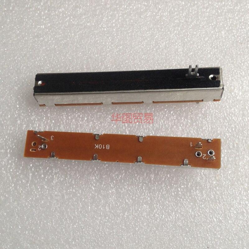 Regulador mezclador 10 Uds 88mm potenciómetro deslizante mono B10K/potenciómetro de atenuación B103 tres patas SL60V
