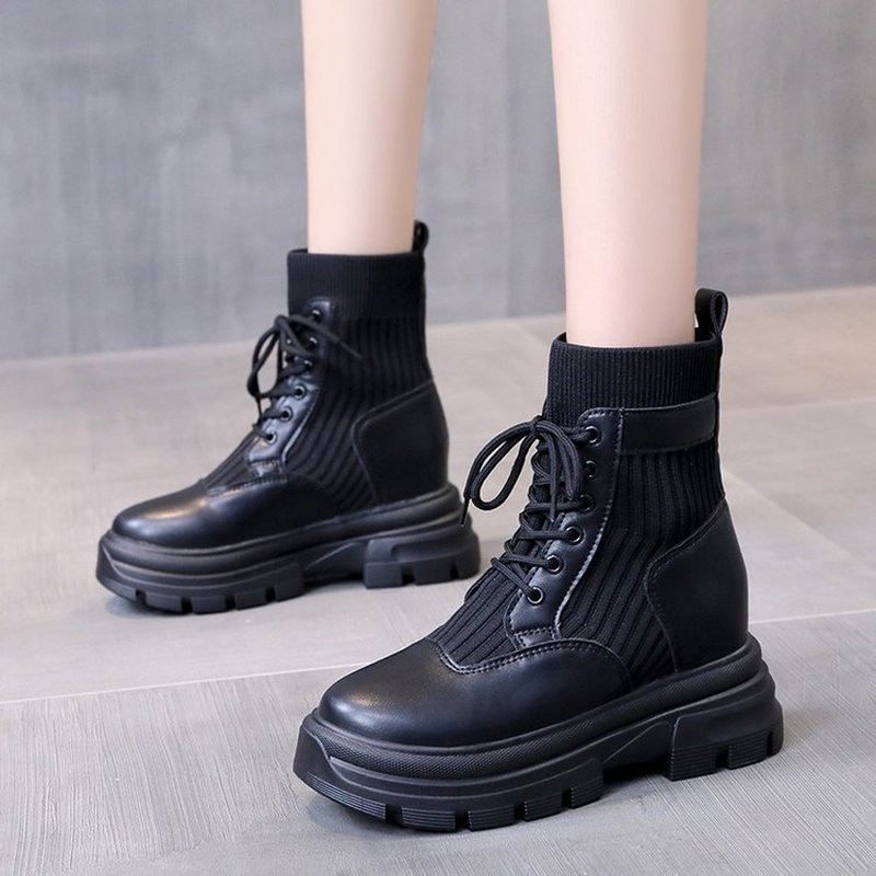 Nude Boots Women's British Style Autumn and Winter 2021 New Casual Women's Shoes Short Boots Women F