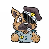13cm 11cm personality friendly police dog england car stickers accessories motorcycle cover scratches waterproof pvc