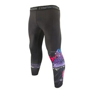 SUOTF Roaring Dragon Men Compressions Pants Running Elastic Tight Leggings Sport Tights Gym Fitness Sportwear Jogging Trousers