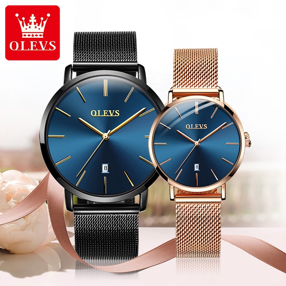 OLEVS Heartbeat Romance Quartz Lover Watches Luxury Brand 2021 Simplicity Fashion Waterproof Men Wom