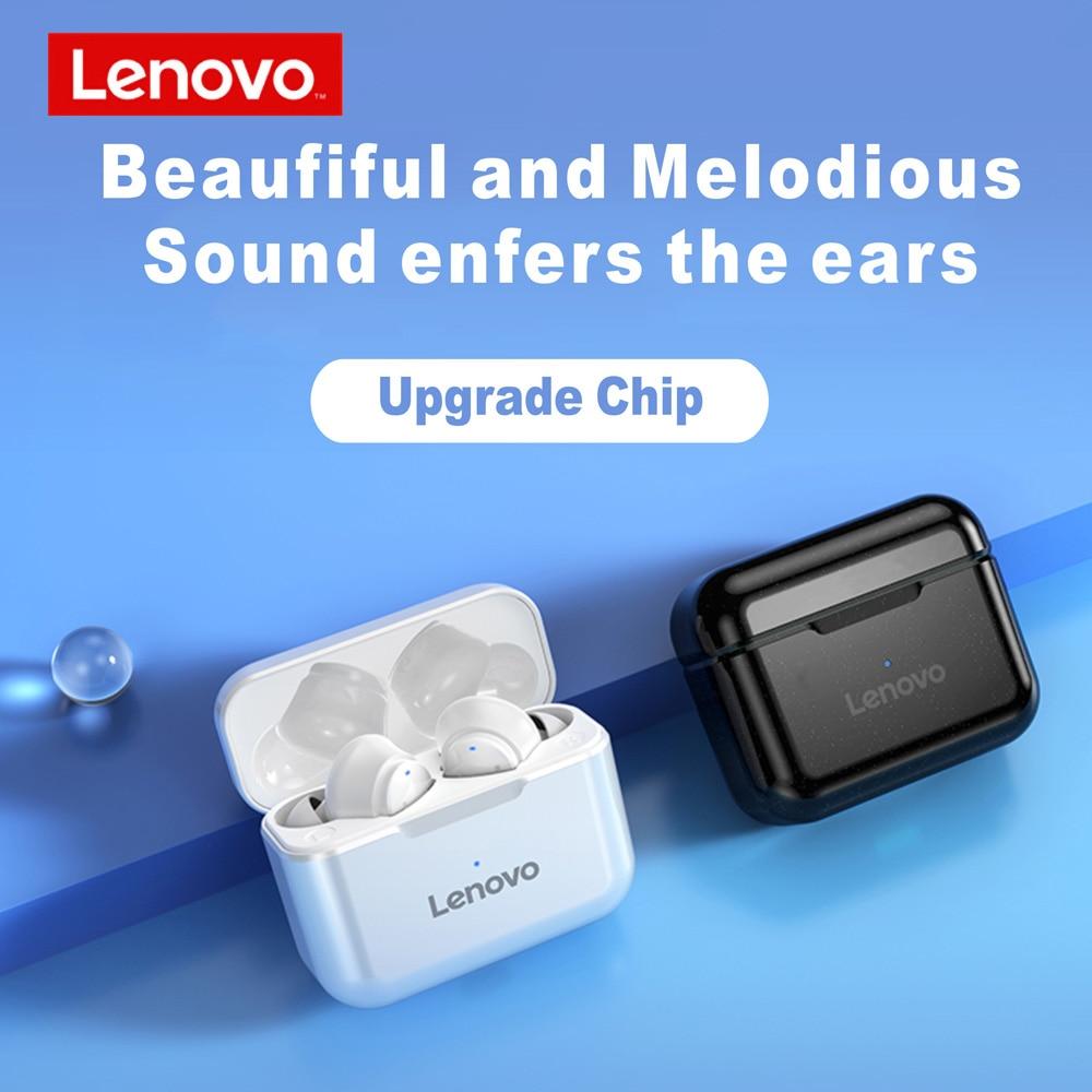 Neue Ankunft Lenovo QT82 Drahtlose Bluetooth kopfhörer V 5,0 Touch Control Kopfhörer Stereo HD Reden Mit 400mAh Batterie