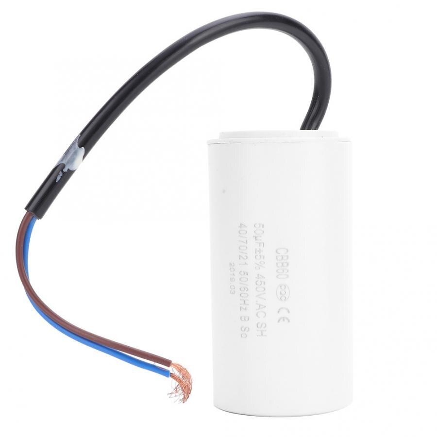 Condensateur 450V 50uF pour démarrage   Condensateur de démarrage de moteur CBB60, condensateur Microfarad de plomb de fil de moteur