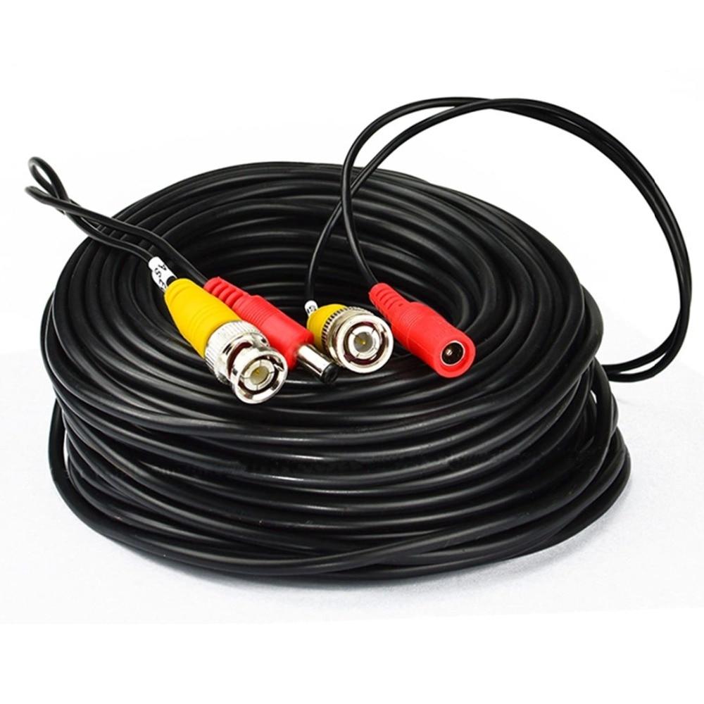 BNC-кабели для AHD-камер 5 м/10 м/20 м/30 м, кабели с разъемом постоянного тока для аналогового AHD-видеонаблюдения, аксессуары для систем видеонаблюд...