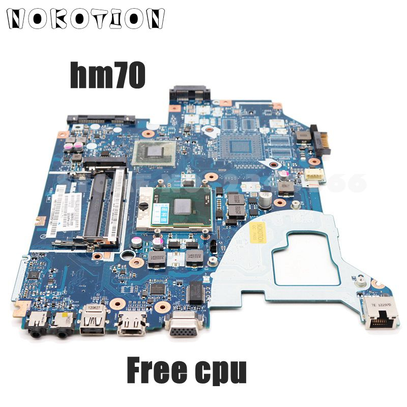 NOKOTION для Acer aspire V3-571G, материнская плата для ноутбука NBC1F11001 Q5WVH E1-571G SJTNV HM70 DDR3, процессор бесплатно