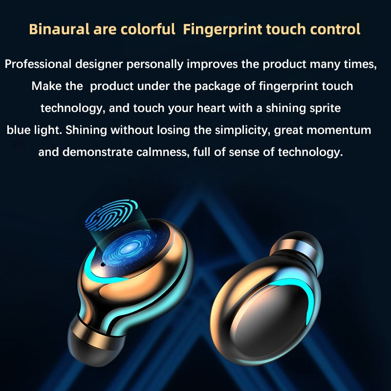 Wireless Earphone Bluetooth V5.0 F9 TWS Wireless Bluetooth Headphone HD Stereo LED Display With 2000mAh Headset With Microphone enlarge