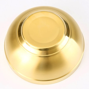 304 Stainless Steel Gold Bowl Thickened Double Layer Heat Insulation Kitchen Cooking Tools MDJ998
