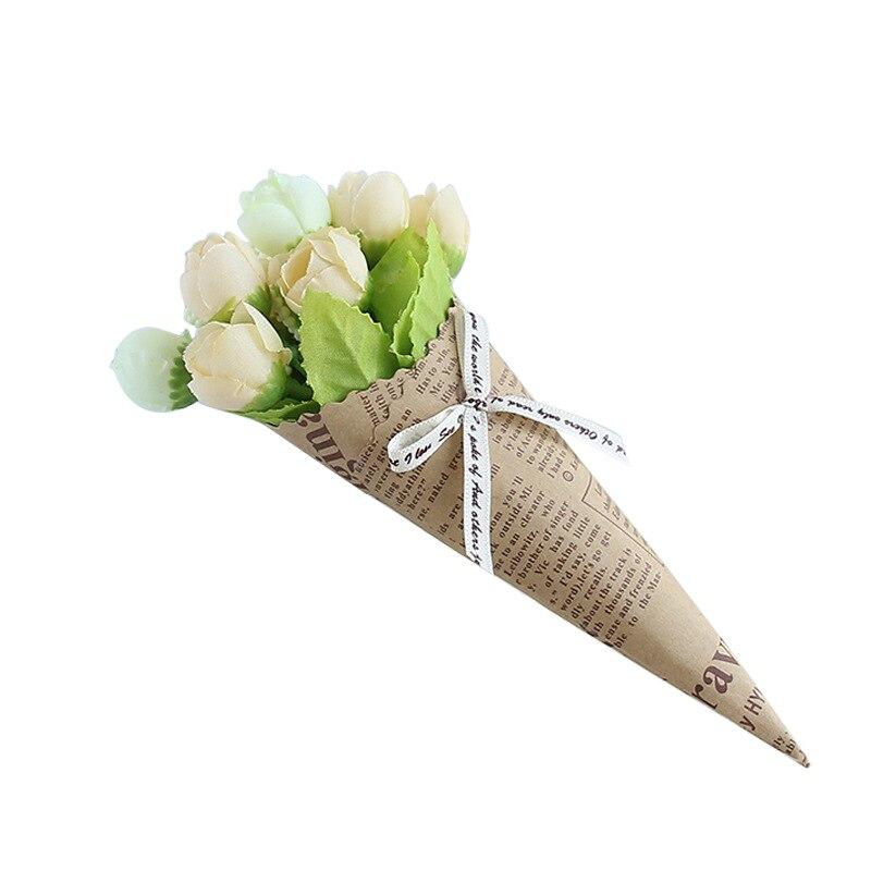 kraft paper newspaper artificial flower set creative home decoration artificial flower bouquet shooting tropical decoration