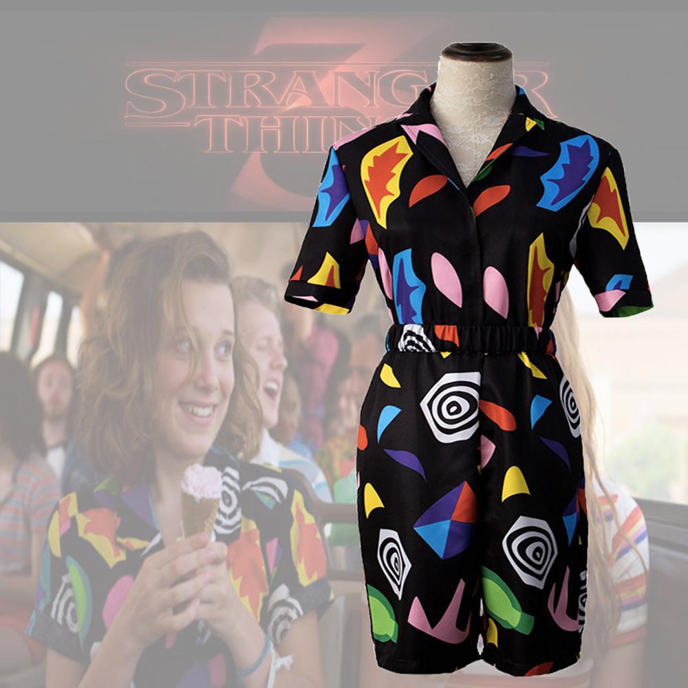 Stranger Things Season 3 Eleven 11 Romper Suit Juniors Playsuit Cosplay Costume