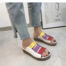 Summer Fashion Women Sandals Female Breathable Mesh Head Velcro Non-slip Big Size Women Shoes Slippers Ladies Platform Sandals