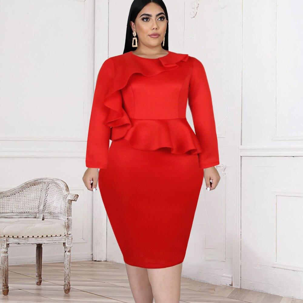 Женское облегающее Платье До Колена, с длинным рукавом, размеры до 3XL gold case платье до колена
