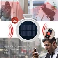 Systeme dalarme de securite sans fil  GSM  sirene solaire  detecteur de mouvement exterieur  controle SMS  pour maison RV Camping